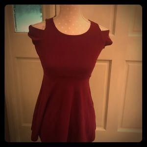 Girls Burgundy dress